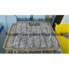 Frozen Minced Green Tripe 48x500g bags/blocks 24KG (52lbs) for dogs