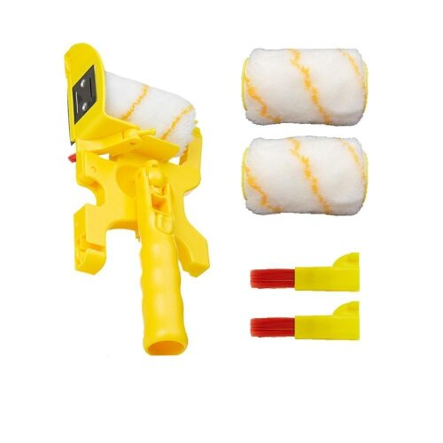 (As Seen on Image) Multifunctional Clean-Cut Paint Edger Roller Paint Brush Set