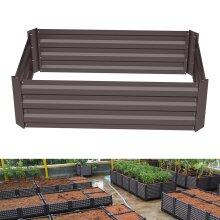 Flower Bed Garden Planter Raised Bed Outdoor Vegetable Plants Box (L)