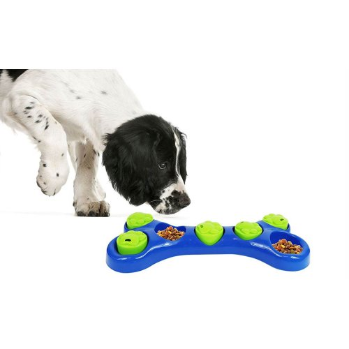 GEEZY Dog Pet Puzzle Feeder Interactive Foraging Bowl