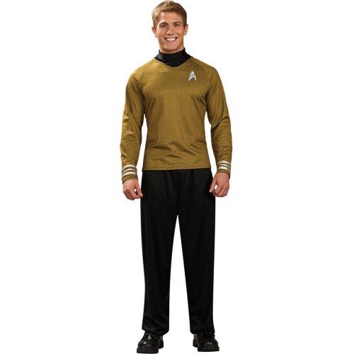 Adult Mens Star Trek Shirts Official Scotty Kirk Spock Fancy Dress Costume