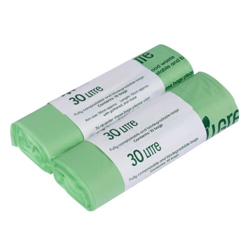 30 Litre All-Green Compostable Kerbside Caddy Liners - 20 Bags (30L)