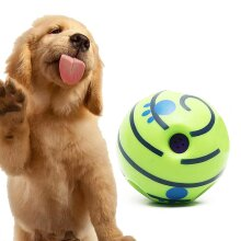 Funny Wobble Wag Giggle Ball Dog Play Training Pet Toy With Sound