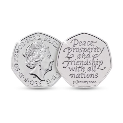 Brexit 2020 Withdrawal from the European Union Collectable 50p Coin