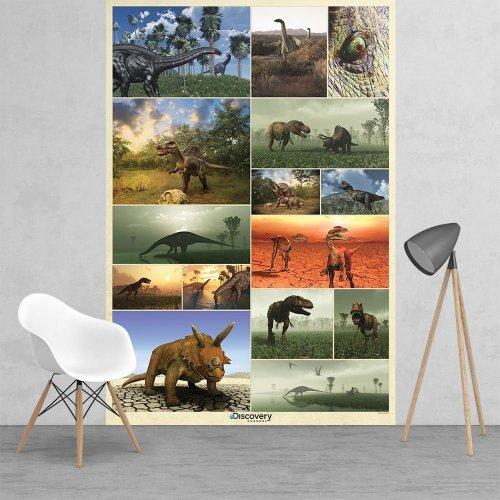 Giant Dinosaur Wall Art Poster Wallpaper 1.58x2.32m Large Bigger Than A1