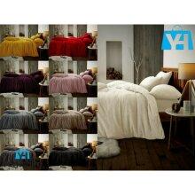Teddy Bear Fleece Duvet Cover Set Pillow Case Sherpa Thermal Warm Soft Beddings