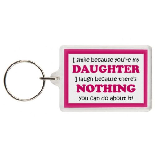 Funny Daughter Gift Keyring - Excellent stocking filler, secret santa gift, joke keyring, keychain, Daughter keyring Daughter present gift for Daughte