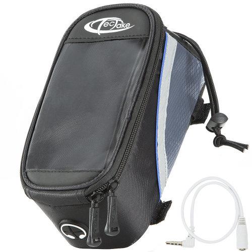 Phone holder for bike black/grey/blue, 20 x 9.5 x 10 cm