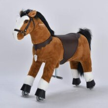 UFREE Medium 36'' Ride-on Horse for Children 4-9 Years Old. (Black Mane and Tail)