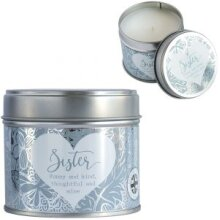 Sentiment Candle in Tin - Sister