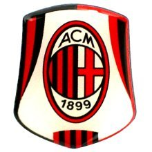 Ac Milan Crest Pin Badge - Football Official Club Gift -  ac milan badge crest football pin official club gift