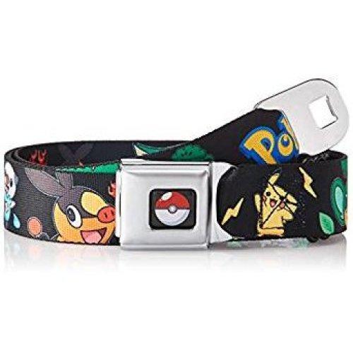 Seatbelt Belt - Pokemon - V.28 Adj 24-38' Mesh New pka-wpk048