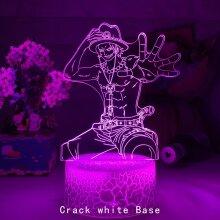 Anime One Piece Portgas D Ace 3d  Night Light