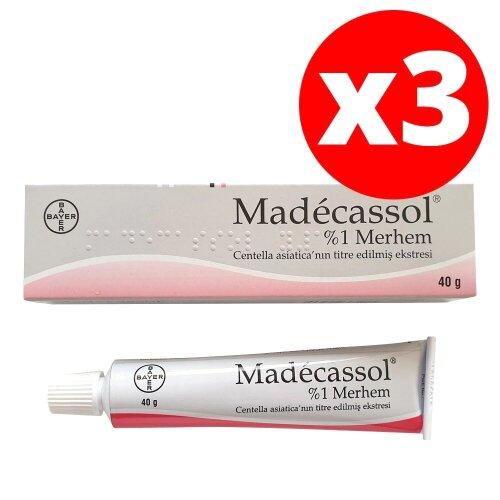 Madecassol Cream Acne Scar Skin Blemish Ulcer Burn Cracks Wound 3 PACK
