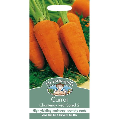Mr Fothergills - Pictorial Packet - Vegetable - Carrot - Chantenay Red Cored 2 - 2000 Seeds