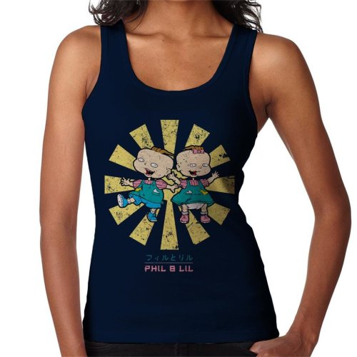 Phil And Lil Retro Japanese Rugrats Women's Vest