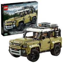 LEGO 42110 Technic Land Rover Defender Off Road 4x4 Car, Exclusive Collectible Model, Advanced Building Set