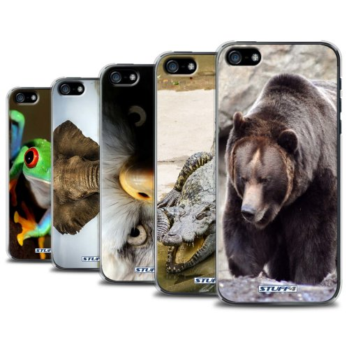 Wildlife Animals Apple iPhone SE Phone Case Transparent Clear Ultra Slim Thin Hard Back Cover for Apple iPhone SE