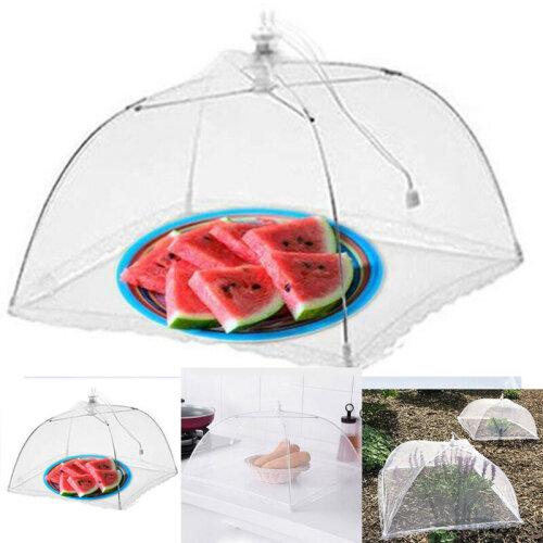 "(2PCS) 17"" Large Tall Metal Mesh Food Cover Kitchen Umbrella Picnic BBQ Garden Net Tent"