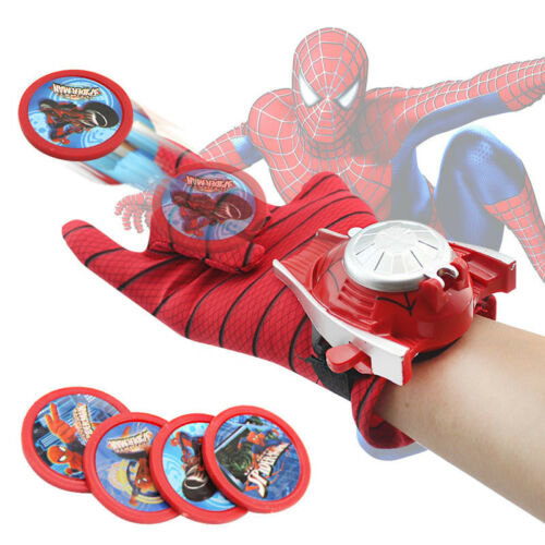 (Spider-Man) Marvel Avengers Superhero Launchers Gloves Spiderman Game Kids Toy Gift Cosplay