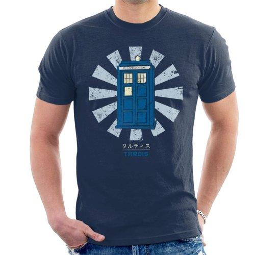 Dr Who Tardis Retro Japanese Men's T-Shirt