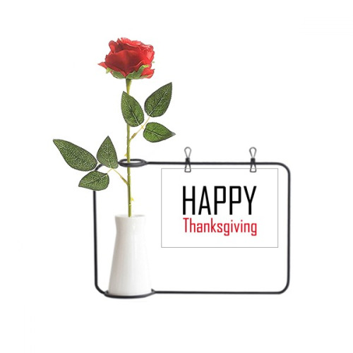 Celebrate Thanksgiving Day Festival Holiday Artificial Rose Flower Hanging Vases Decoration Bottle