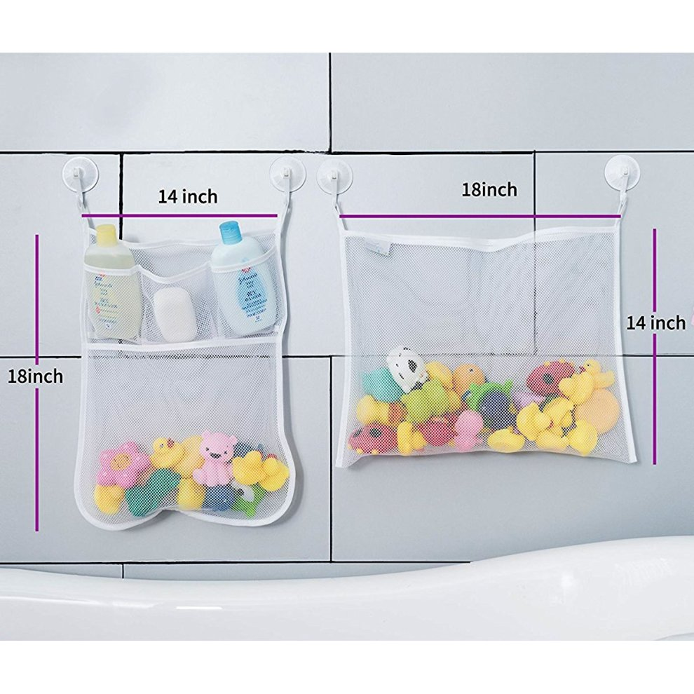 Children/'s Water Toy Storage Bag Strong Suction Cup Bathroom Hanging Bag UK
