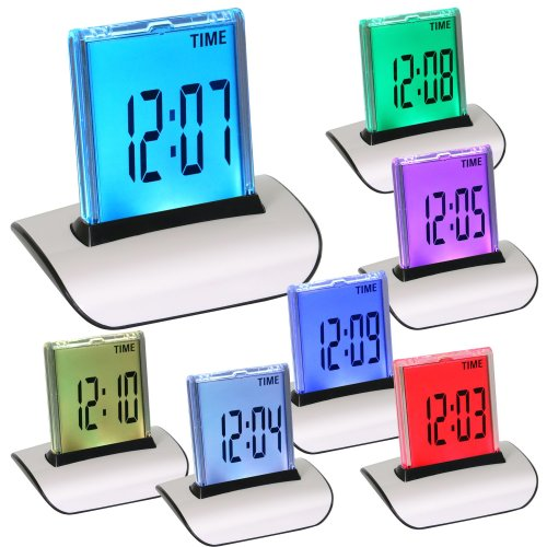 Digiflex Multicoloured Alarm Clock | Colour Change Digital Clock
