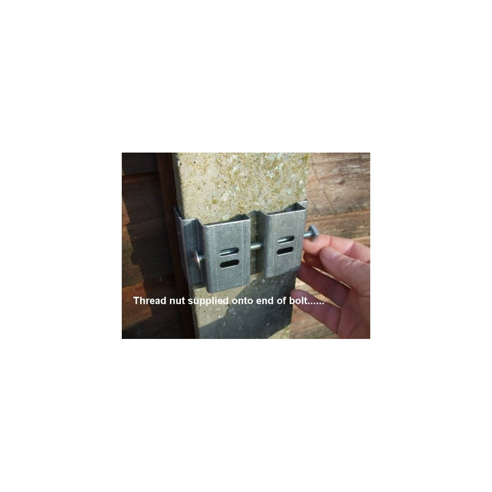 "Postfix® Slotted Concrete Fence Post Brackets to Fit 4"" x"