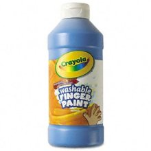 New Washable Fingerpaint Blue 16 oz by Crayola