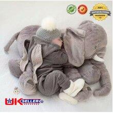 Soft Pillow Plush Stuffed Elephant Animal Doll Toy