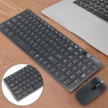 Slim Thin Wireless Keyboard Mouse Combo 2.4GHz Kit fr PC MAC Laptop