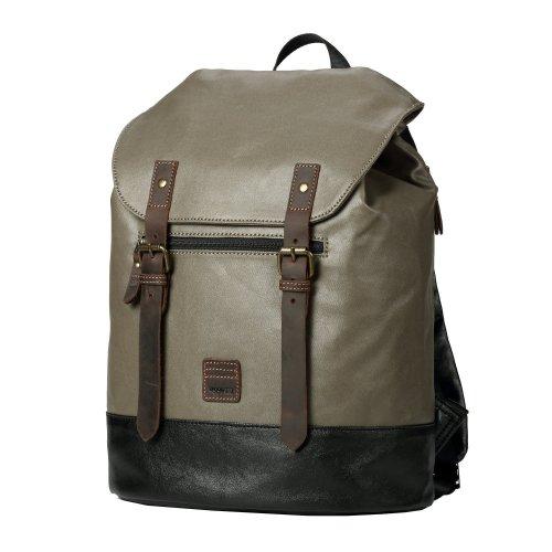 TRP0514 Troop London Heritage Coated Canvas Casual Daypack, Laptop Backpack