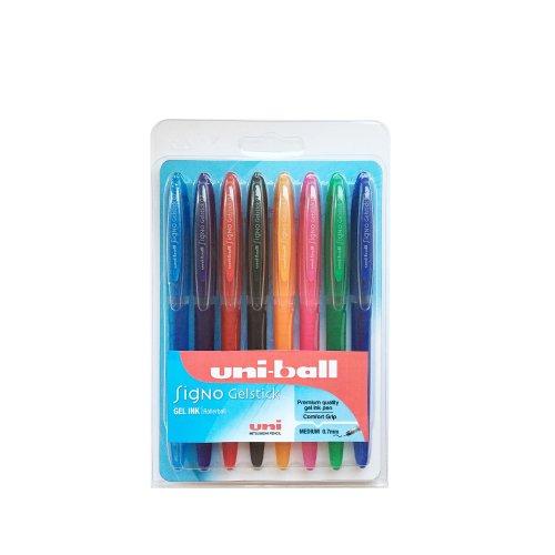 Uni-ball F803664 UM170 SigNo Gelstick Rollerball Pen 0.7mm Tip 0.4mm Line Assorted Ref 5011715 [Wallet 8]