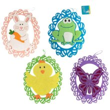 DDI 2343511 13.5 x 10 in. Easter Felt Hanging Decor, Assorted Color - Case of 36