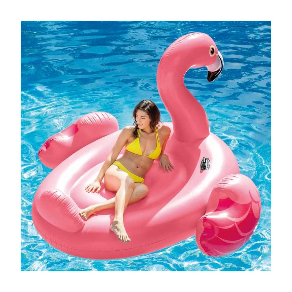 Party Island Beach: Intex 56288 Mega Flamingo Inflatable Island For Pool And