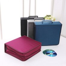 CD Wallet Case Organiser with Carry Handle - HOLDS CD's DVD's Video Games Music Album CD's Blu Ray Disc's