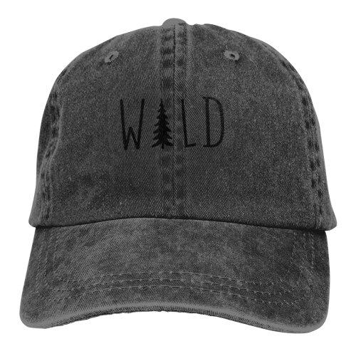 Wild Hiking Camping Adventure Denim Baseball Caps