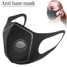 Safety Dust Mask PM2.5 Filters Breathing Valve Respirator Washable Face Mask