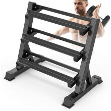 Dripex Adjustable 3 Tier Heavy Duty Dumbbell Rack Home Gym Weight Rack Dumbbell Storage Stand Holder, Latest Model(Rack Only)