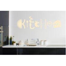 Assorted Kitchen Sign Wall Stickers Art Decals - Medium (Height 26cm x Width 90cm) Beige