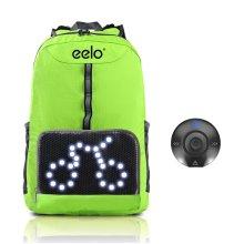 Cycling Backpack - eelo Cyglo Safety Cycling Backpack with Rear LED Signal Display The Ultimate Outdoor Cycle Rucksack for Full Visibility and Awareness - Bike Backpack - Used