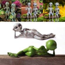 Outer Space Alien Ornaments Garden Resin Statue