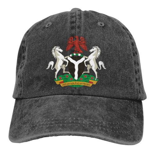 Coat Of Arms Nigeria Denim Baseball Caps