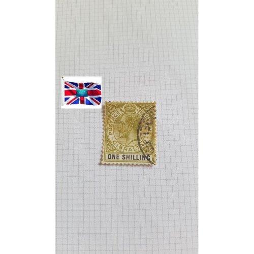 """Gibraltar 1910 """" King Edward VII 1906-1911 Definitives"""" 1 s - Gibraltar shilling"""