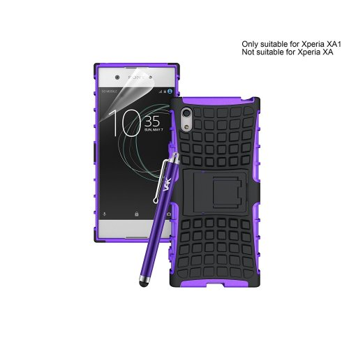 (Purple) For Xperia XA1 Armour Tough ShockProof Case Cover