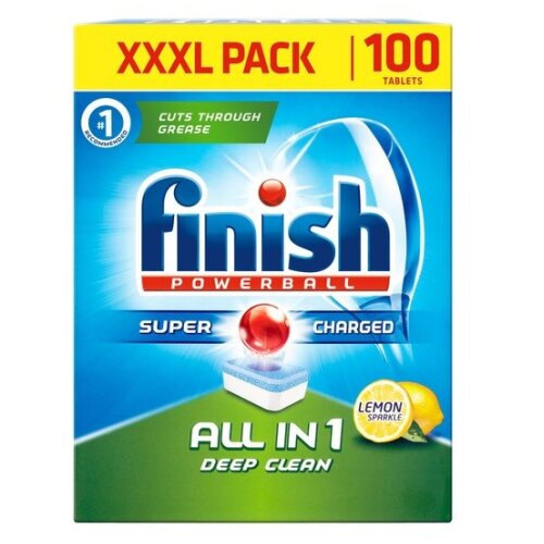 100pc Finish Powerball All-In-1 Dishwasher Tablets - Lemon Sparkle