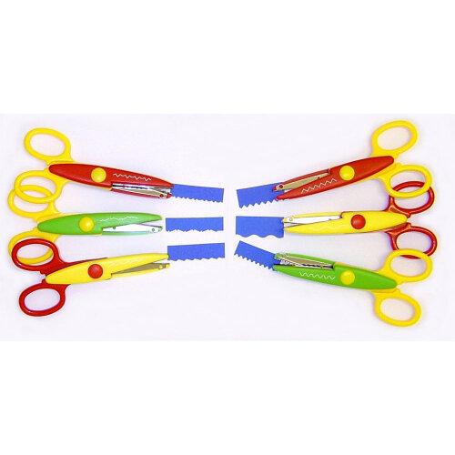 Decree Pack of 6 Crazy Cut Scissors