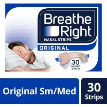 Breathe Right Snoring Congestion Relief Nasal Strips Sm/Med 30 Strips