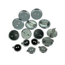 Job lot 15 pcs circle silver brooch back pin badge fastener bar